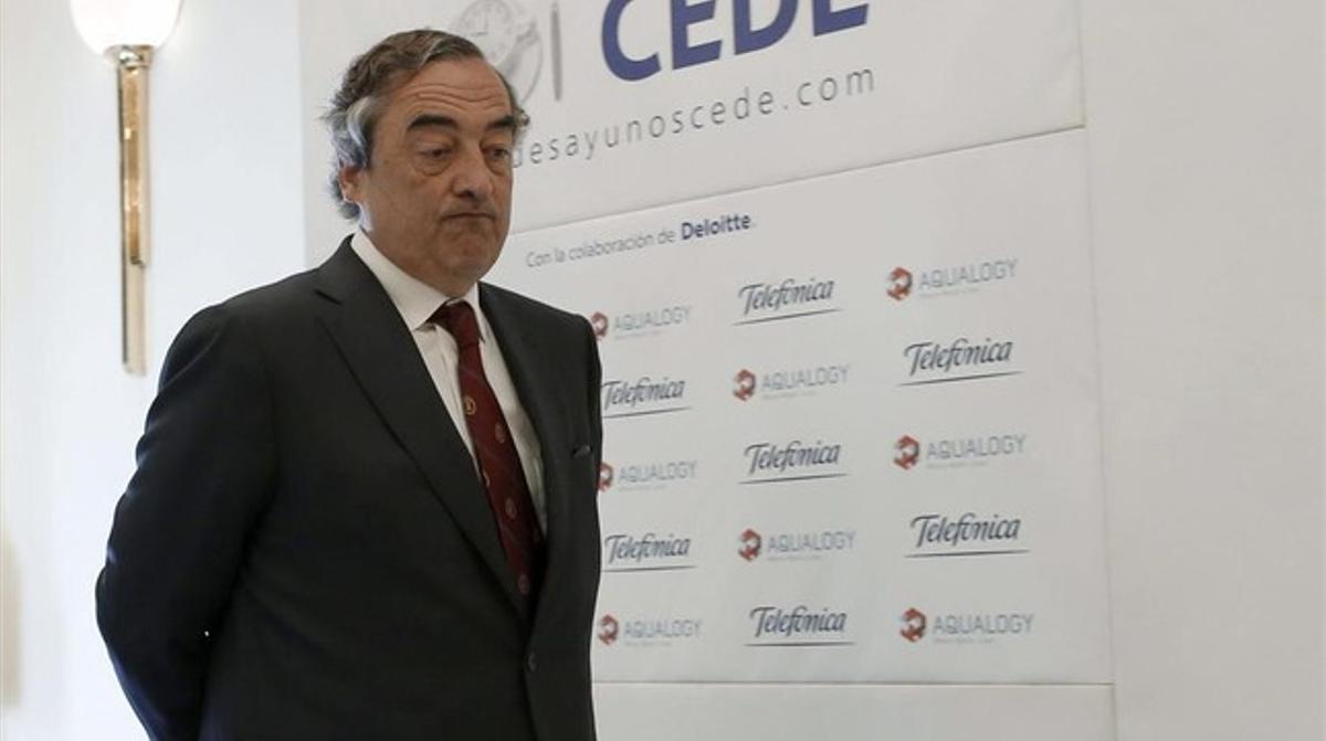 El presidente de la CEOE, Juan Rosell.