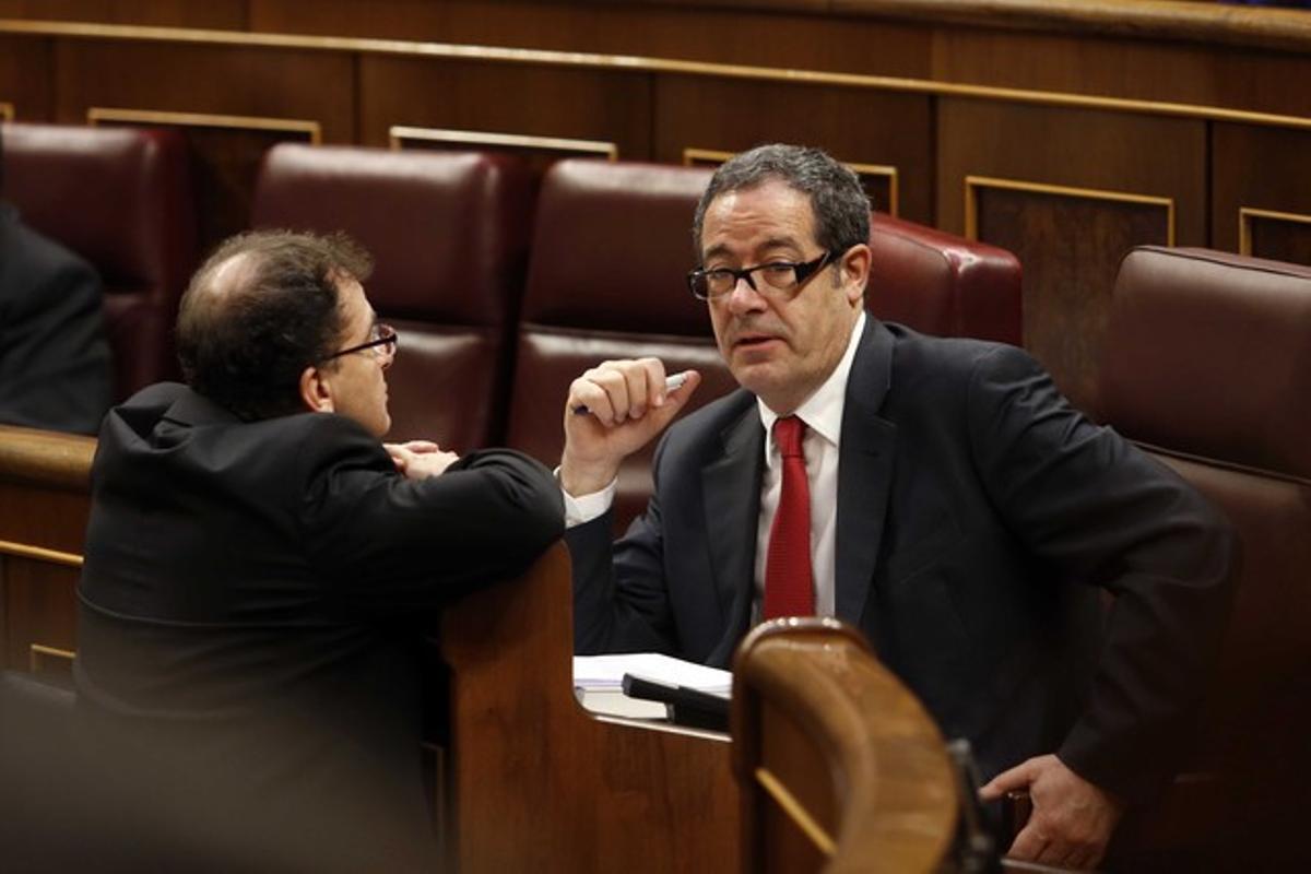 Pere Macías, en el Congreso de los Diputados, en una sesión del 2014.