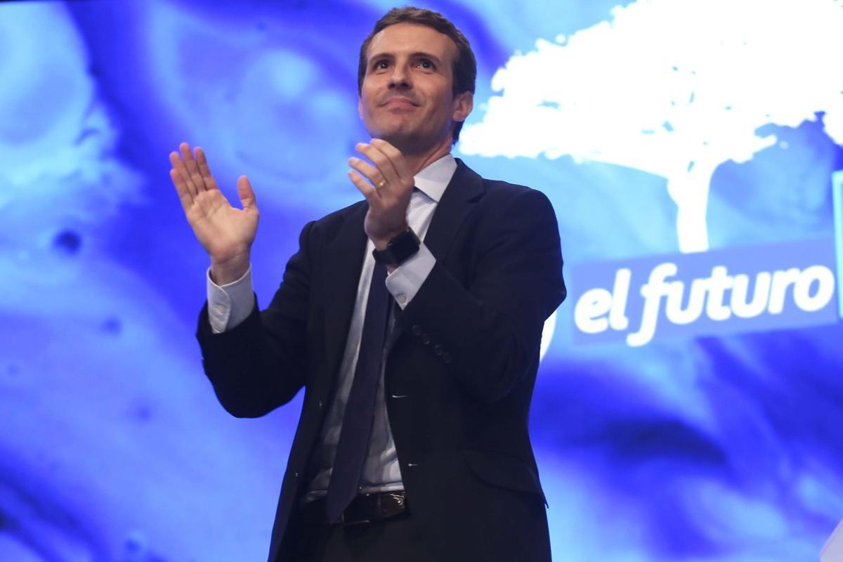 Pablo Casado, durante su discurso en el congreso del PP.
