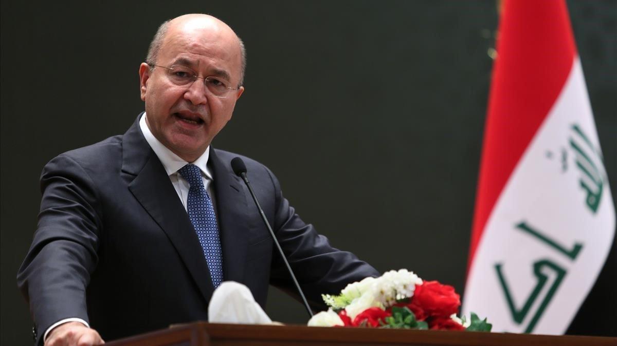 El presidente de Irak,Barham Saleh.