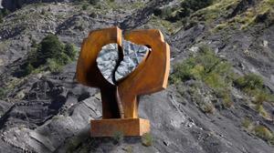 Montaje de la obra de Carlos Ciriza en el lugar donde se instalaría si resulta vencedora.