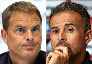 Frank de Boer (i) y Luis Enrique, seleccionadores de Países Bajos y España.