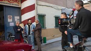Ricardo Gómez e Imanol Arias, en el rodaje de la nueva entrega de 'Cuéntame cómo paso'.