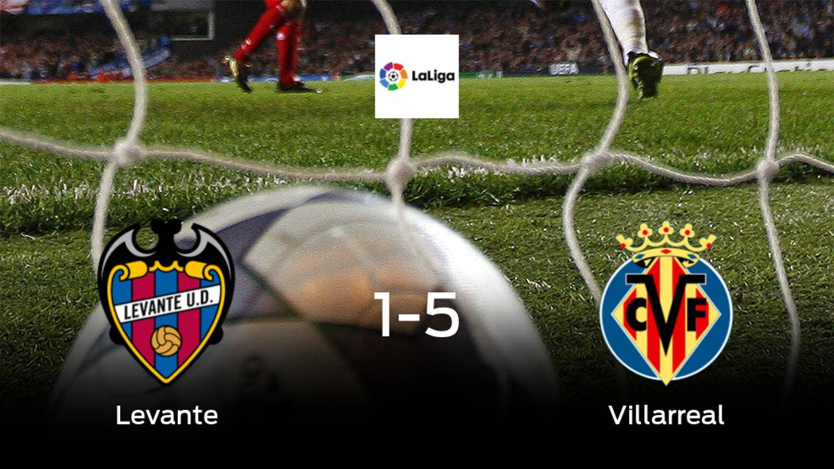 Goleada del Villarreal ante el Levante (1-5)