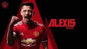 Alexis, con la camiseta de su nuevo club, el Manchester United.