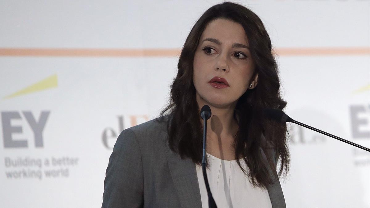 Inés Arrimadas en el Desayuno de El Economista