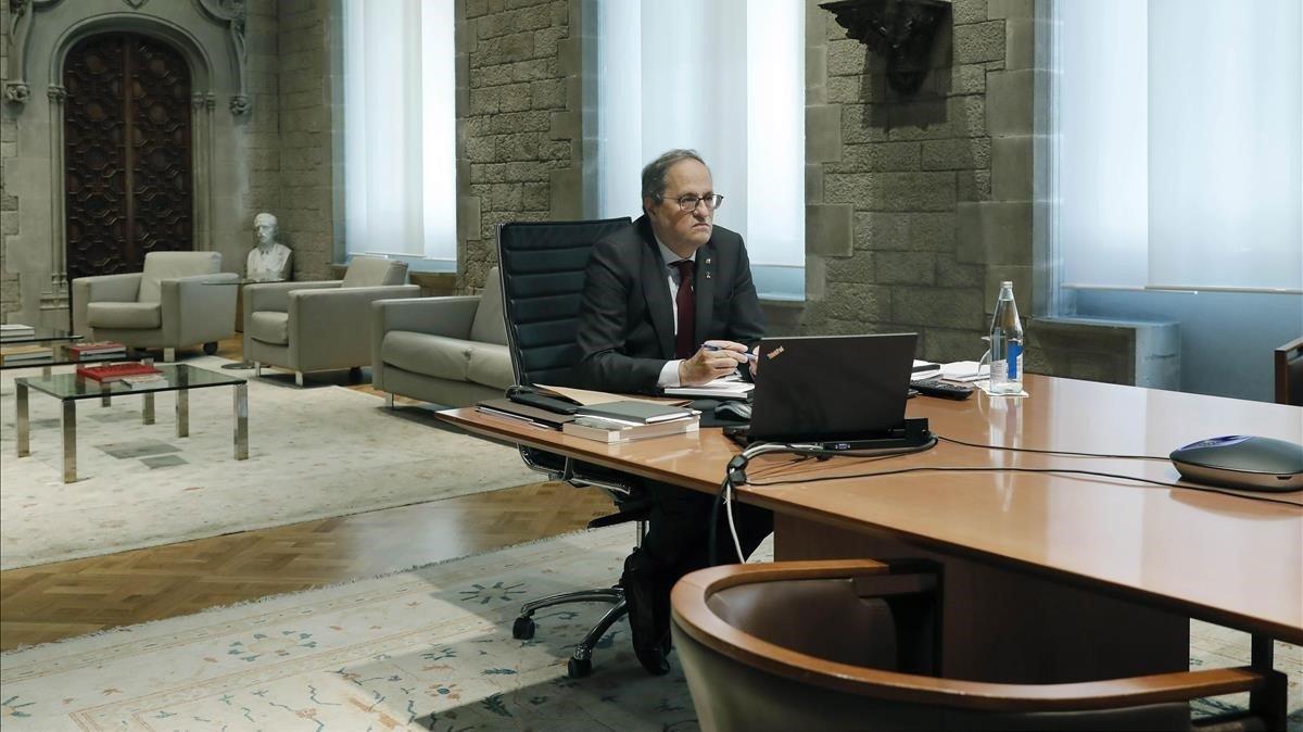 Quin Torra, en su despacho.
