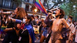 Miles de personas piden justicia para Samuel en varias ciudades de España. En la foto, la manifestación de Barcelona.