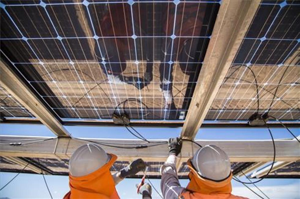 Placas solares de la empresa Soltec (Murcia)