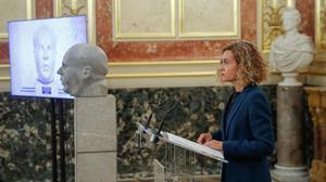 La presidenta del Congreso, Meritxell Batet, en el homenaje a Manuel Azaña