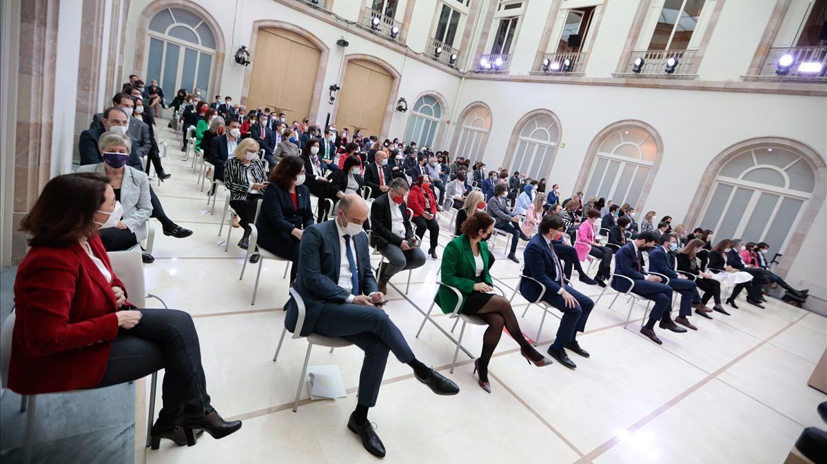 El auditorio del Parlament durante el pleno de constitución de la XIII legislatura.