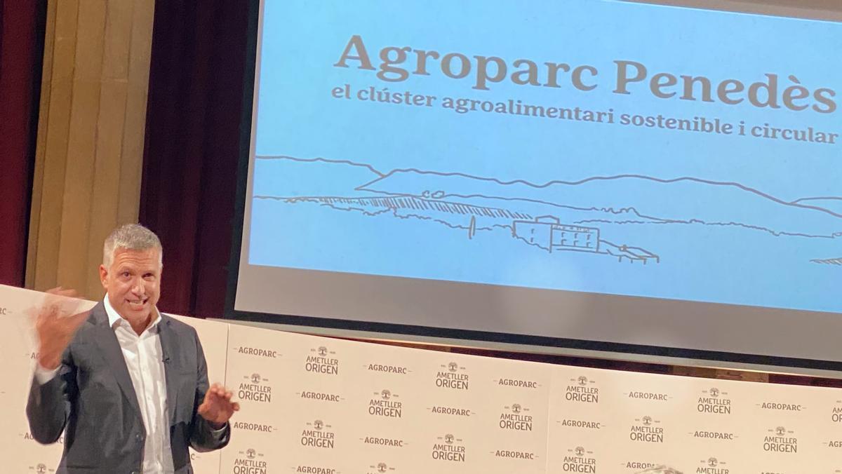 Josep Ametller durante la presentación del Agroparc Penedès.