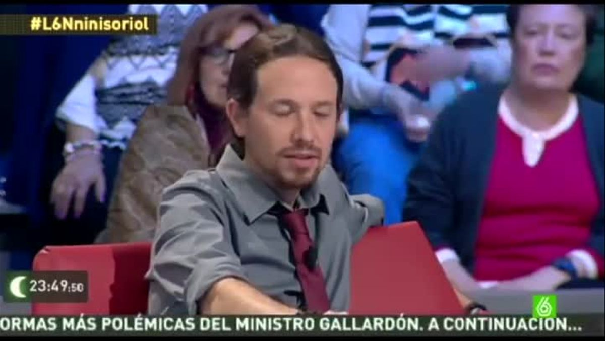 Pablo Iglesias, durante una de sus apariciones en 'La Sexta Noche'.