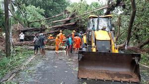 Destrozos del ciclón Tauktae, en la India.