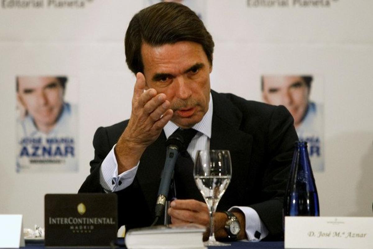 El expresidente del Gobierno, José María Aznar, el pasado noviembre.