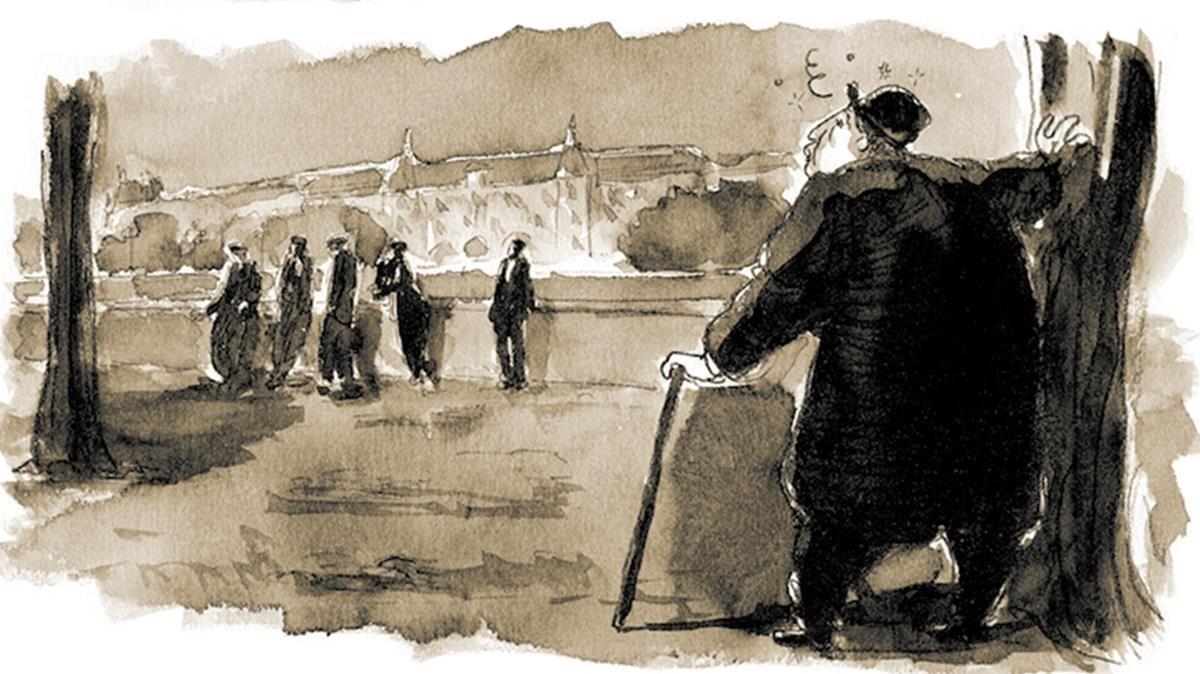 Viñeta de 'La Divina Comedia de Oscar Wilde'.
