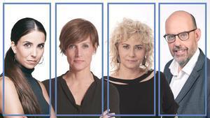 Laura Rosel, Raquel Sans, Mònica Terribas y Jordi Basté, presentadores de 'La Marató' de TV-3 del 2020.