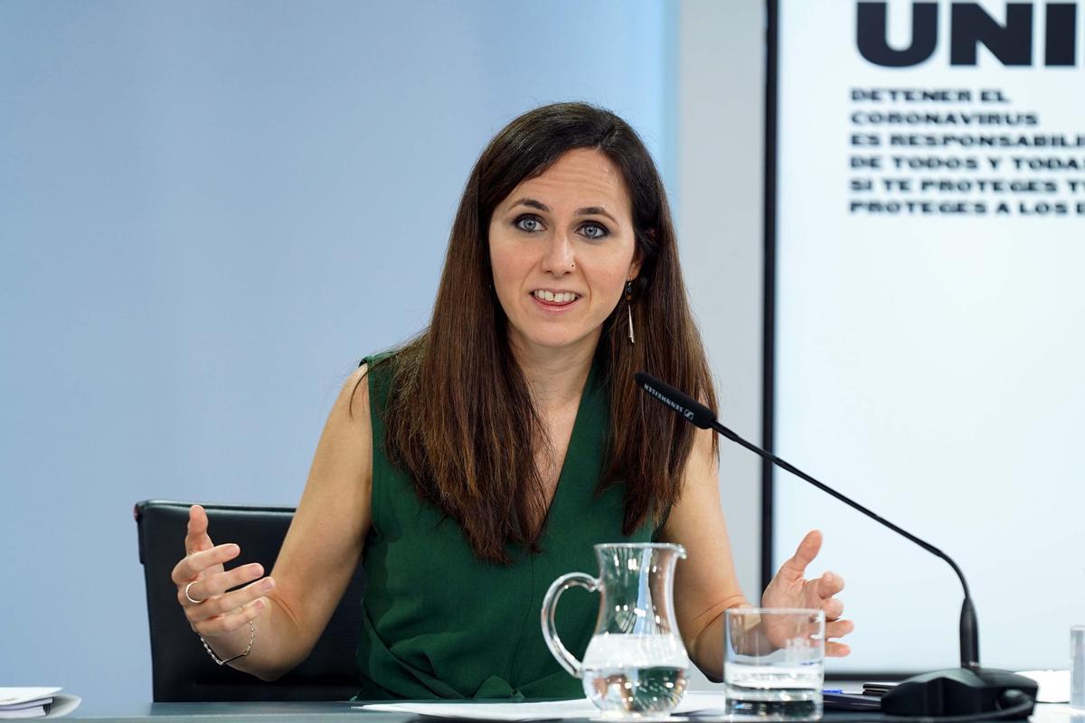 La ministra de Derechos Sociales y Agenda 2030, Ione Belarra,