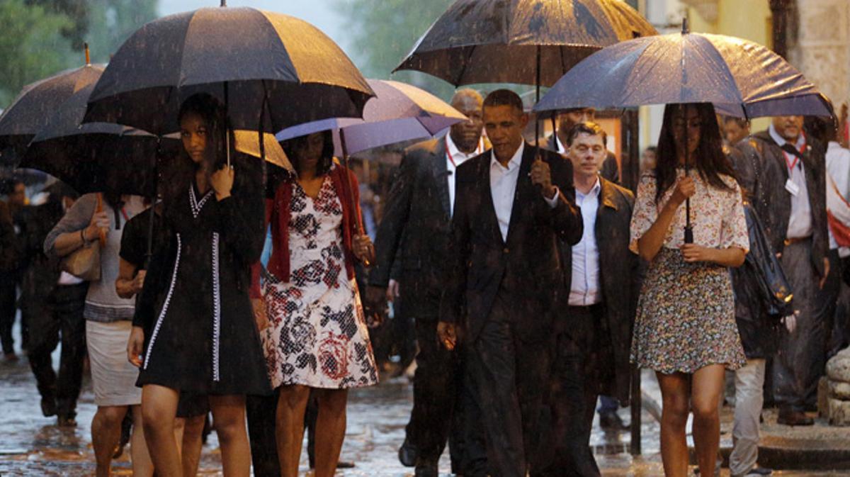 Barack Obama llega a La Habana a bordo del Air Force One.