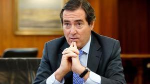 El presidente de CEOE, Antonio Garamendi, en una imagen de archivo.