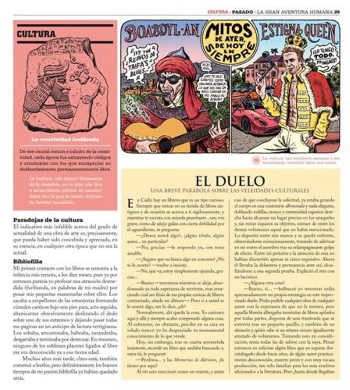 Página de 'La gran aventura humana', de Miguel Brieva.