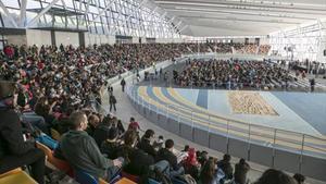 Imagen de la Pista Coberta d'Atletisme de Sabadell, durante la asamblea de la CUP, el pasado 27 de diciembre.