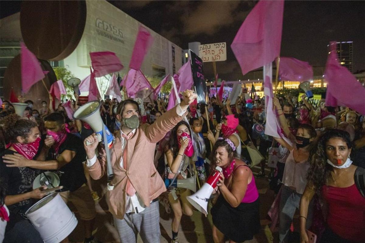 Protestas sociales en Israel.