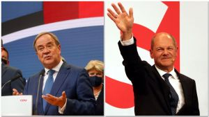 Armin Laschet, candidato de la CDU-CSU, y Olaf Scholz, candidato del SPD.