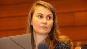 La 'exconsellera' Meritxell Serret, el pasado marzo, en una conferencia sobre derechos humanos en la sede de la ONU en Ginebra.