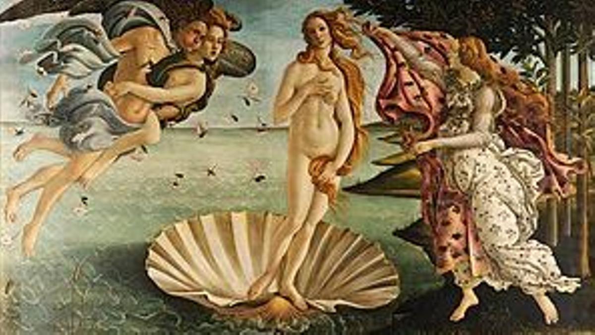 'El nacimiento de Venus', de Botticelli.