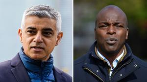 El laboristaSadiq Khan y el aspirante conservador Shaun Bailey, los dos candidatos a la alcaldía de Londres.