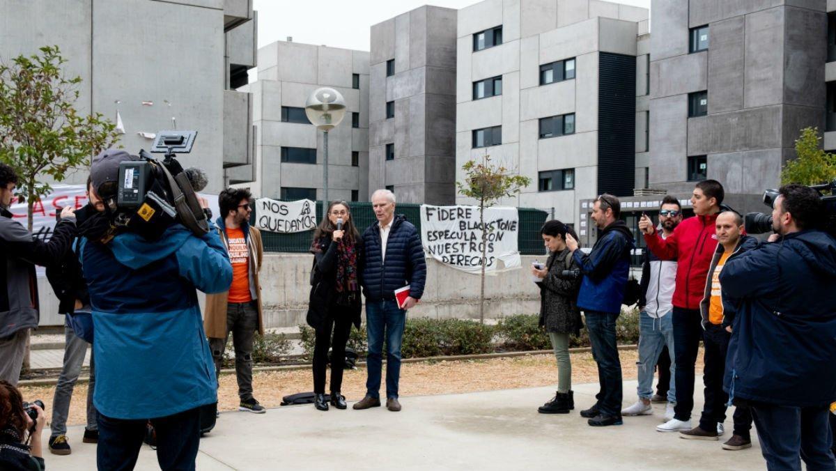 Visita del relator de la ONU sobre la pobreza extrema, Philip Alston, a Torrejón de Ardoz.