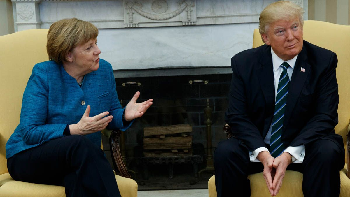 Trump y Merkel mantienen sus diferencias en la visita de la canciller a Washington.