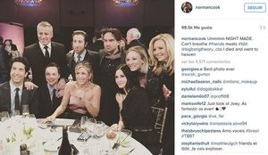 Los actores de 'Friends' (sin Matthew Perry) y 'Big bang theory', en el programa especial que emitió el canal NBC el 21 de febrero del 2016.