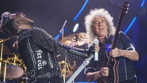 Concert de Queen al Palau Sant Jordi, amb Adam Lambert i Brian May.