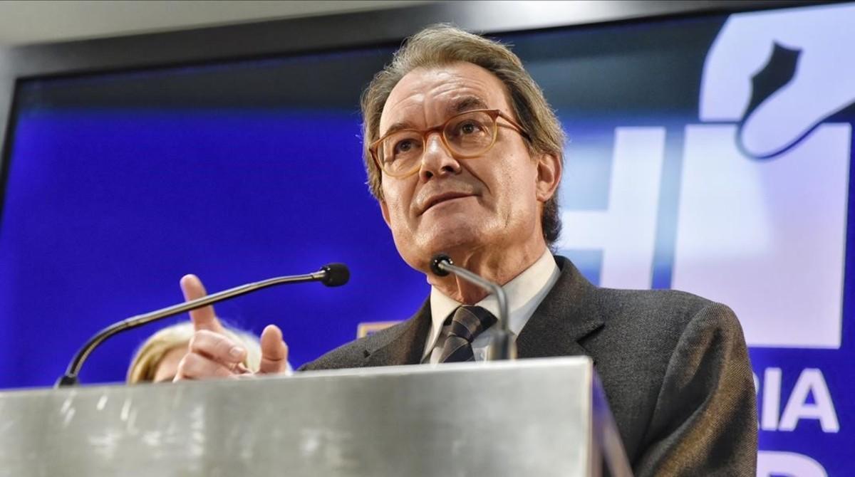 Artur Mas, tras conocer la sentencia de inhabilitación por la consulta del 9-N.