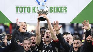 El Ajax celebra la consagración de la Copa de Holanda.