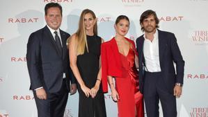Jordi Rabat, Eva Palao, Isabelle Junot y Álvaro Falcó, en la presentación de la colección 'Three wishes'.