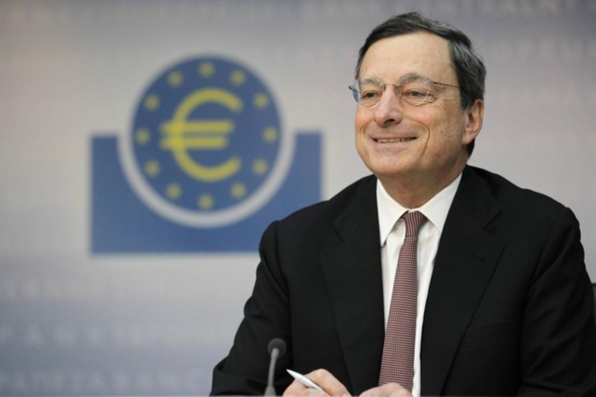 El presidente del BCE, Mario Draghi, durante una conferencia, en Fránckfort, el día 5 de julio.