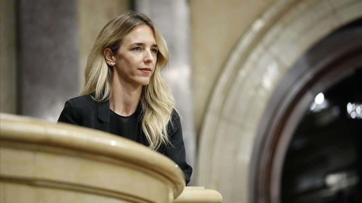 Cayetana Álvarez de Toledo, en el Parlament, en septiembre del 2019
