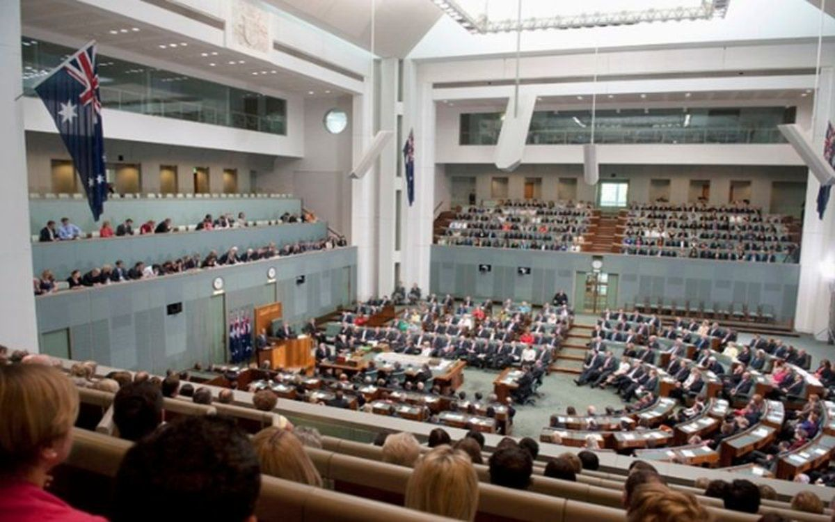 El parlamento de Australia.
