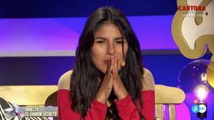 Isa Pantoja en 'La casa fuerte' tras conocer el permiso que le dan para ver a su madre.