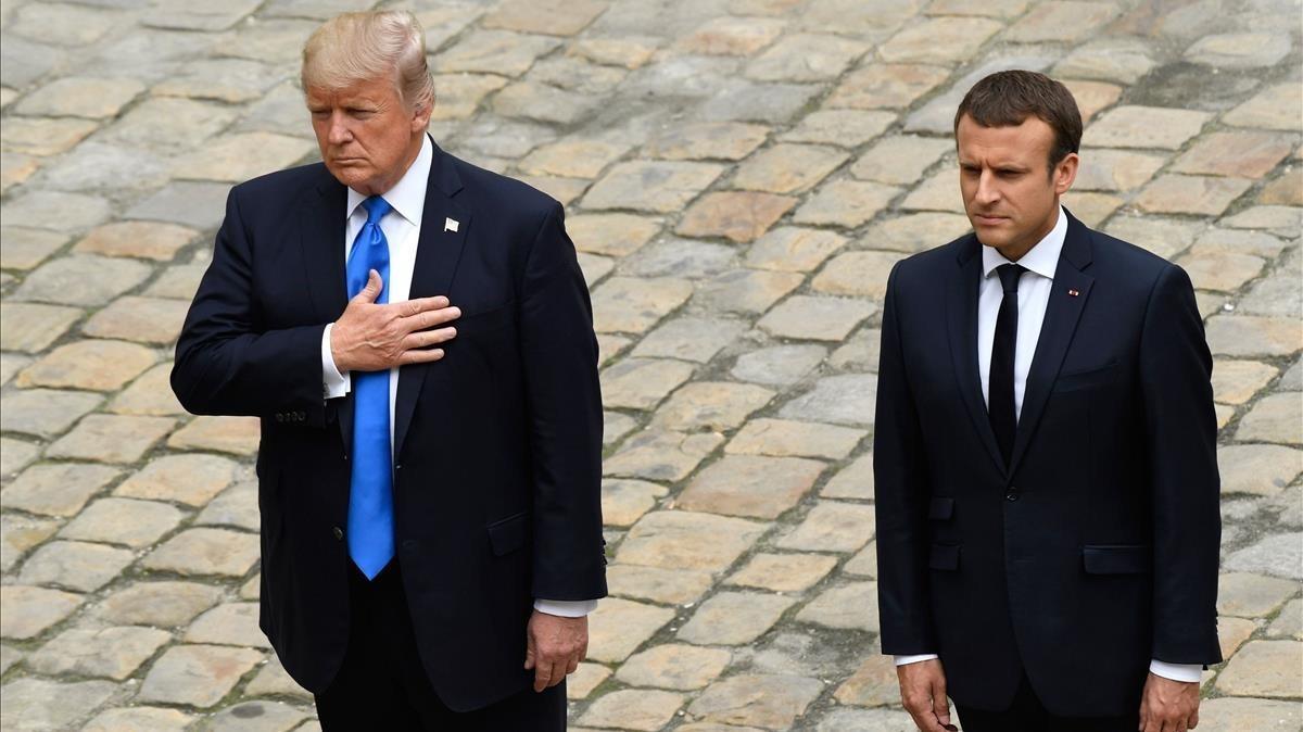 Tregua en la guerra que libran Macron y Trump por la tasa digital