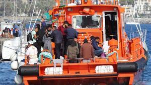 Rescate de inmigrantes al sur de Gran Canaria.