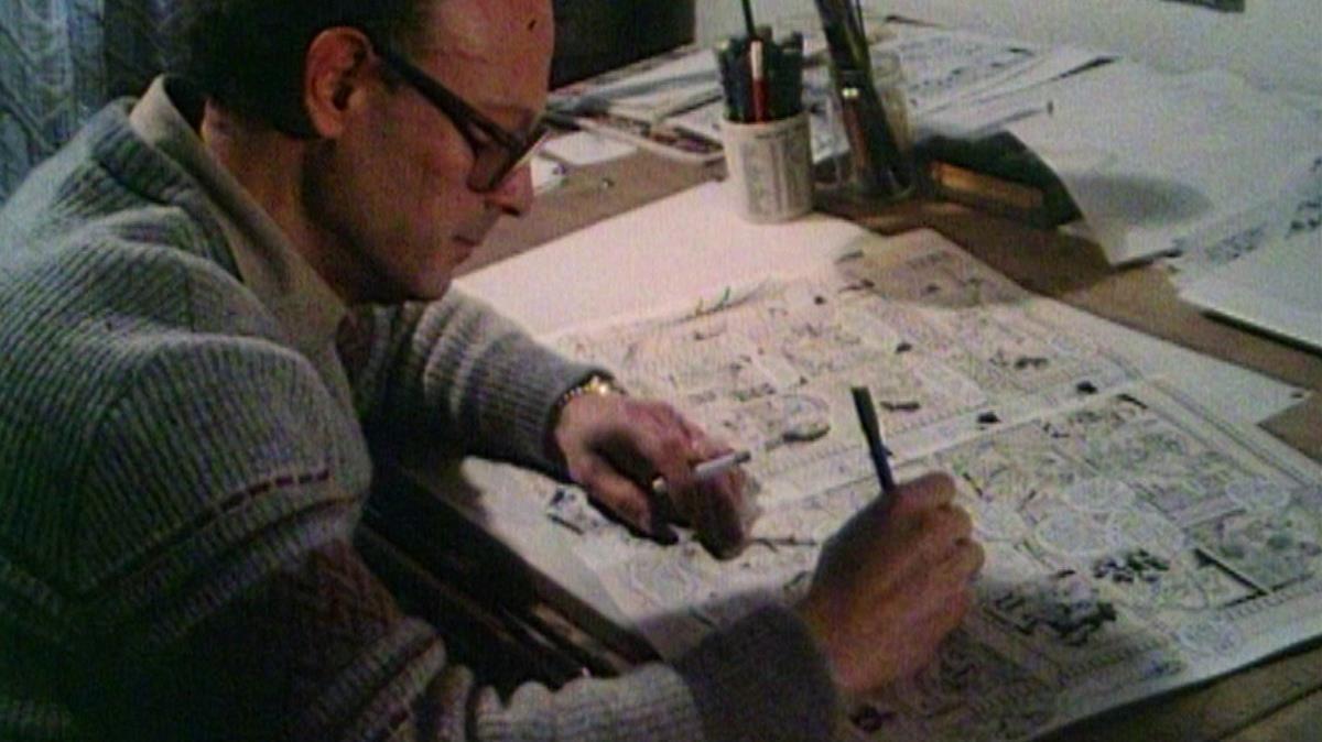 Francisco Ibáñez, en sus estudio.