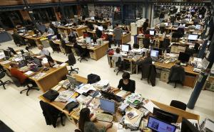 Redacción central de El Periódico de Catalunya en Barcelona.