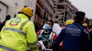 Uno de los heridos como consecuencia de la explosión de un edificio en Madrid