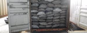 Un contenedor cargado de fardos de cocaína.