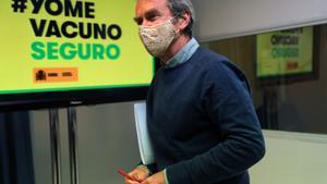 El epidemiólogo Fernando Simón, a su salida de una rueda de prensa.