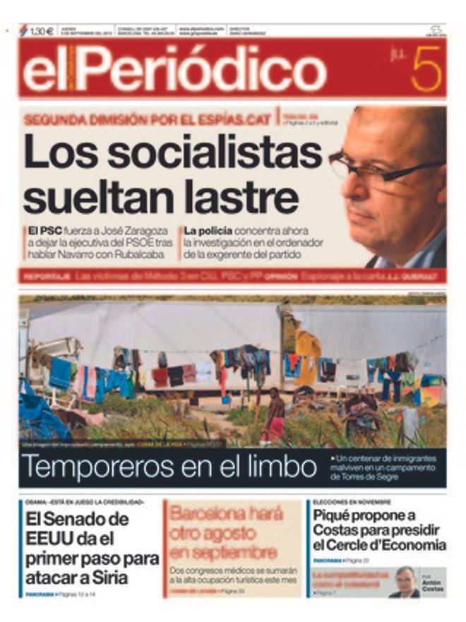 EL PERIÓDICO, 05-09-2013.